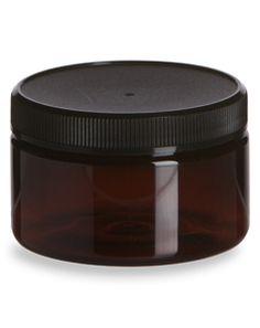 Specialty Bottle - 4 oz Amber PET Heavy Wall Plastic Jar with Black Lid, $0.90 (http://www.specialtybottle.com/plastic-jars/amber-pet/4oz-pha4)
