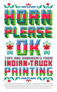 Top Ten Indian Typography: Truck Painting   www.posterama.co