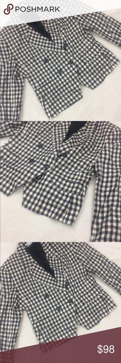 NWT Christian Dior vintage plaid navy blazer Beautiful vintage blazer NWT Christian Dior Jackets & Coats Blazers