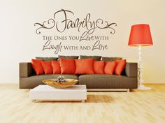 Wall Decal for the Home  Family Quote Large by FourPeasinaPodVinyl, $45.00 www.etsy.com/shop/fourpeasinapodvinyl