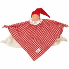 Kathe Kruse Waldorf Blanket Doll, Red. Soft, organic cotton flannel. A perfect first doll for baby! $29.95