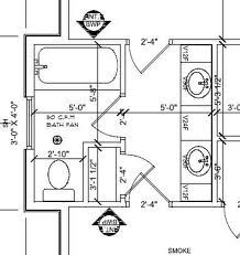 Bathroom Layout Jack And Jill jack and jill bathroom floor plan with shower and a separate area