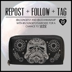 We've teamed up with Leeanna Vamp for this giveaway brought to you by the #darkside. Head over to Instagram for details. http://instagram.com/loungefly