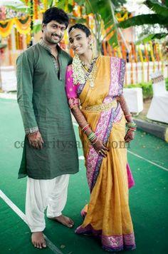 Nani Wife in Silk Saree | Saree Blouse Patterns