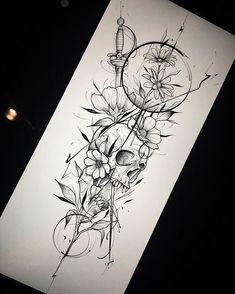 deer skull tattoo with flowers . deer skull tattoo for men . deer skull tattoos for women . Trendy Tattoos, Unique Tattoos, Beautiful Tattoos, Popular Tattoos, Body Art Tattoos, New Tattoos, Female Tattoos, Tatoos, Foot Tattoos