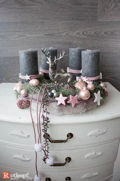 Christmas Crafts to sell Adventskranz rosa grau mi - christmascrafts Christmas Crafts To Sell, Diy Crafts To Do, Easy Crafts, Christmas Diy, Christmas Decorations, Xmas, Natal Diy, Selling Handmade Items, Advent Wreath