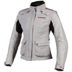Dainese Evo-System D-Dry Lady Jacket - $499.95  Great adjustment opportunities, flexible stretch in the arms, water repellent exterior with a waterproof and thermal liner system. Great for year round riding and dual sport riding