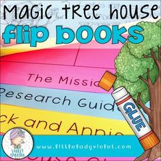 Looking for a FUN way to teach a Magic Tree House novel?  This is a set of differentiated flip books that can be used in so many ways.  Students can use them to take notes during reading or to present their learning after reading.  Mount them on a sheet of green paper and they're ready to hang in the hall or on an interactive bulletin board.