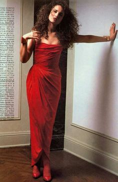 Vogue US 1984 .Photo Elisabeth Novick. Andie MacDowell