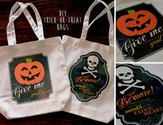 Quick and easy halloween trick or treat bags created with Irons in My Digital Studio