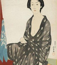 Nakatani Tsuru dressing, by Goyō Hashiguchi「橋口 五葉 」
