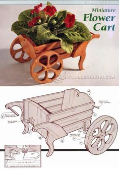 Miniature Flower Cart Plan - Woodworking Plans and Projects | WoodArchivist.com