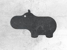 Hippo logo design by Gert van Duinen in Animal