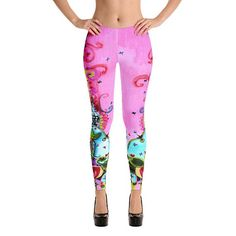 NEW! Willie Leggings all from the paintings of Wendy Costa now on etsy Made and shipped in DAYS