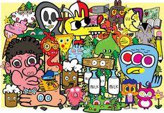 10 CONTEMPORARY ARTIST UNDER 40 - JON BURGERMAN http://www.widewalls.ch/10-contemporary-artist-under-40/jon-burgerman/ #JohnBurgerman #contemporary #artist #art