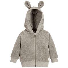 Molo - Grey Velour Hooded 'Dorothy' Baby Top | Childrensalon
