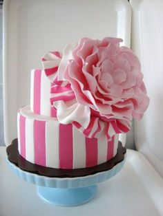 love the pink & white stripes