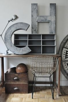 """Metal letters - Large """"W"""" outside, or in the entry way"""