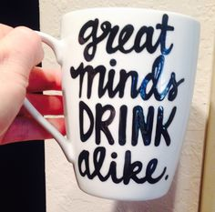 A personal favorite from my Etsy shop https://www.etsy.com/listing/252985555/great-minds-drink-alike-best-friends-mug