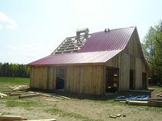 4-27-2008 The Sugar Shack my grandson designed and helped to build at the Brushton Moira Central School, Brushton, NY