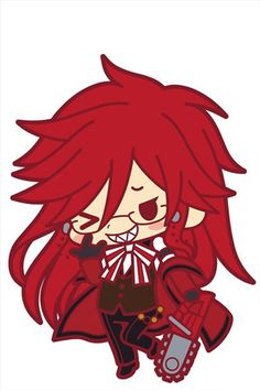Black Butler Book of Circus Grelle Rubber Cell Phone Strap