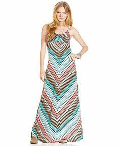 American Rag Chevron-Print Maxi Dress - Dresses - Women - Macy's $49