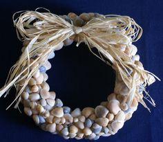 Multicolor seashell wreath by JustShellin on Etsy, $69.99