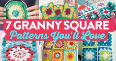 Roundup: 7 free crochet patterns for granny squares you'll love, curated by Jennifer Ward/LGC Knitting & Crochet for Oombawka Design
