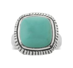Reconstituted Turquoise Rope Ring