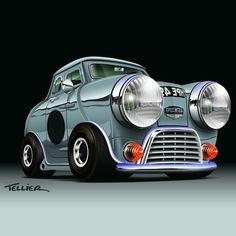 Mini Cooper Classic, Mini Cooper S, Classic Mini, Classic Cars, Jaguar, Lamborghini, Ferrari, Mini Lifestyle, Cartoon Styles