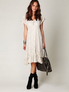 Free People FP New Romantics Foil Tea Length Dress at Free People Clothing Boutique