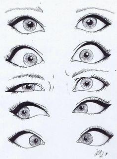 Expresiones en los ojos...