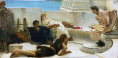 Lawrence Alma-Tadema - A Reading from Homer [1885] | Flickr - Photo Sharing!