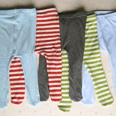 Baby Tights-free pattern and tutorial!  More free stuff on her website but also some great pdf patterns for sale. Madebyrae.com