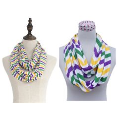 Mardi Gras scarves are in and ready to ship!!! If you would like to order, please email me at sillyfrillygirls@yahoo.com with your email and which pattern (striped or chevron) you would like and the qty so that I can invoice for them. I ordered 50 of each pattern. They are $5.00 each plus shipping. ($3.50 flat shipping for up to 5 scarves and $6.50 flat shipping for 6 or more scarves). Check out our page on Facebook, Silly Frilly Girls Boutique