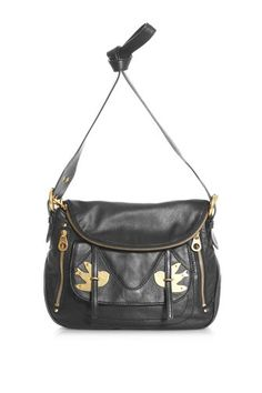 "Petal to the Metal Natasha  $438.00  One of our best sellers, the Petal to the Metal Natasha is a great shoulder bag that can be also worn as a cross-body. The Natasha features our petal to the metal design, shiny brass hardware and adjustable shoulder strap.   100% Cow Leather.  12"" x 4"" x 10.25"""