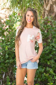 Happy Days Are Here Pocket Blouse Peach - The Pink Lily