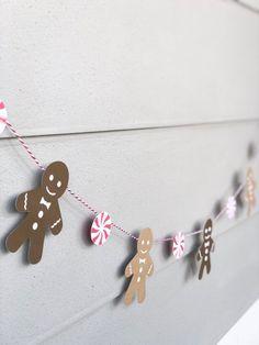 Gingerbread Man Decorations, Christmas Gingerbread, Christmas Decorations, Gingerbread Men, Holiday Banner, Christmas Banners, Christmas Crafts, Christmas Ideas, Xmas