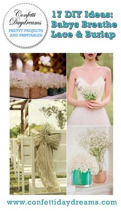DIY Baby's Breathe, Burlap & Lace Wedding Ideas | Confetti Daydreams -  Made for DIY projects, the Baby's Breathe wedding theme is an affordable, easy and PRETTY way to create an elegant and romantic ambiance for your wedding day. Be inspired by our collection of fabulous DIY ideas using these angelic flowers as your part of