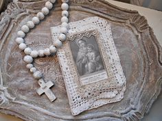Vintage French Laces Fabric Prayer Book Marie