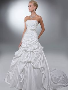 Satin Pick Ups Skirt Wedding Gown Davinci Bridal 50097|DimitraDesigns.com