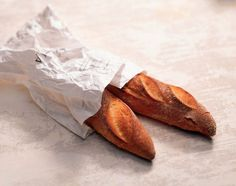 Baguettes in bag