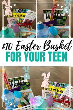 If you are looking for some creative inspiration for your Easter baskets this year, here are 10 Easter Basket Ideas for Teens and Tweens! Bunny Crafts, Easter Crafts For Kids, Diy For Kids, Easter Stuff, Easter Egger Chicken, Craft Stick Crafts, Diy Crafts, Easter Baskets, Gift Baskets