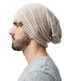 9a2d551ea01 Tough Headwear Slouchy Cable Knit Beanie by Chunky Oversized Slouch Beanie  Hats  fashion  clothing