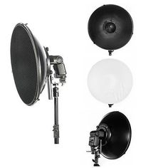 "16"" 41cm Hot Shoe Grid Beauty Dish Diffuser for Speed Light Flash Lite Photo | eBay"