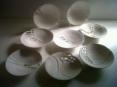 Largest porcelain dish finished so far (before firings!) Shrunk to 45cm already. Turned base done 2 http://yfrog.com/kkl8aawj