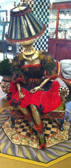 Mackenzie Childs Lamp Lady