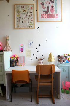 Kids room - Vintage desk - Emilie Sans Chichi