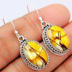 Brecciated Mookaite 925 Sterling Silver Earrings Jewelry BRME136 - JJDesignerJewelry