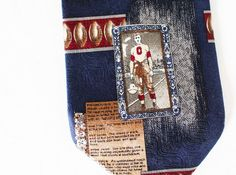 Vince Lombardi Tie Silk Necktie Quote Me 1997 Blue Red Brown Football Packers #Tie